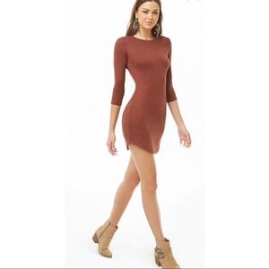 NWT Marled knit mini dress